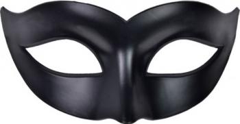 Masca fantezista unisex accesoriu pentru costumatie de Carnaval Halloween sau Bal mascat marime universala neagra Topi Dreams Decoratiuni petreceri