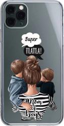 Husa Silicon Soft Upzz Print iPhone 11 Pro Max Model Mom2 Huse Telefoane