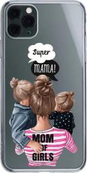 Husa Silicon Soft Upzz Print iPhone 11 Pro Max Model Mom3 Huse Telefoane
