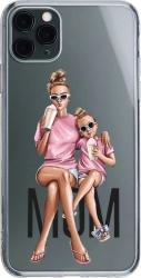 Husa Silicon Soft Upzz Print iPhone 11 Pro Model Mom1 Huse Telefoane