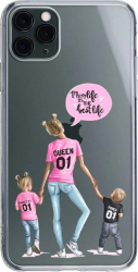 Husa Silicon Soft Upzz Print iPhone 11 Pro Model Mom5 Huse Telefoane