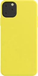 Husa iPhone 11 Pro Max silicon galben Huse Telefoane