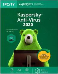 Kaspersky Antivirus 2020 - 1 Device 1 Year Antivirus