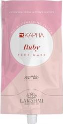 Masca faciala cu rubin pentru zona T cu tendinte de ingrasare Lakshmi bio-organica cu argila alba 20 ml cu efect de portelan Masti, exfoliant, tonice