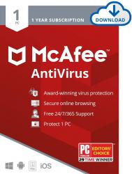 McAfee Antivirus 2020 - 1 Device 1 Year