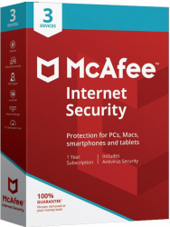 McAfee Internet Security 2020 - 3 Device 1 Year