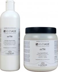 Pachet masca exfolianta antiage 350 grame si apa florala aromatica de neroli 500 ml Lakshmi organic Masti, exfoliant, tonice