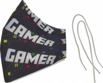 Masca fashion pentru copii Omega Gamer OCCFM-4-DC 2 straturi reglabila 175 x 115 mm reutilizabila Masti chirurgicale si reutilizabile