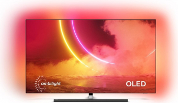 Televizor OLED Philips 65OLED865 Smart TV 4K Ulra HD Android TV Ambilight 164 cm negru Clasa B Televizoare