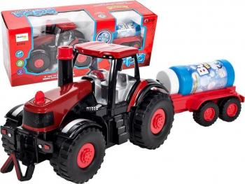 Tractor cu remorca care face bule Malplay 106020