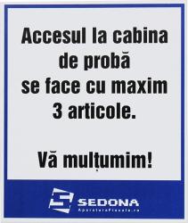 Placuta Accesul la cabina de proba Articole protectia muncii