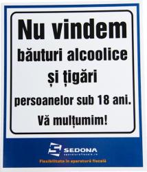 Placuta Nu vindem alcool si tigari minorilor Articole protectia muncii