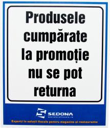 Placuta Produsele Cumparate la Promotie nu se pot Returna Articole protectia muncii