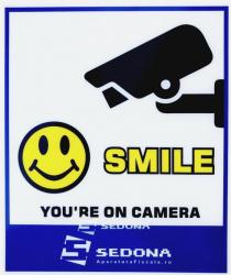 Placuta Smile Youre on Camera Articole protectia muncii