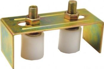 Ghidaj superior reglabil tip U pentru poarta culisanta - Suport poarta culisanta in forma de U cu 2 role and and Oslash 41 mm Accesorii feronerie