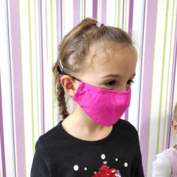 Masca din bumbac cu 2 filtre PM 2.5 cu carbon activ reutilizabila marime mica pt COPII Masti chirurgicale si reutilizabile