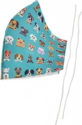 Masca fashion pentru copii Omega Puppy OCCFM-3-DC 2 straturi reglabila 175 x 115 mm reutilizabila Masti chirurgicale si reutilizabile
