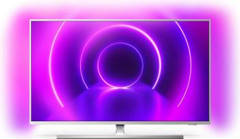 Televizor LED PHILIPS 58PUS8555 SmartTV 4K UHD control vocal HDR 10+ Ambilight 146 cm argintiu Televizoare