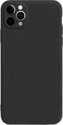 Husa Candy Silicone pentru iPhone 11 Pro Protectie camera Interior de microfibra Ultra subtire Flexibila Black Huse Telefoane