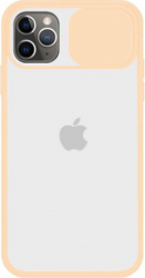 Husa G-Tech CamShield carcasa de protectie spate si camera foto Apple iPhone 11 Pro Max Pink Sand Huse Telefoane