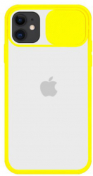 Husa G-Tech CamShield carcasa de protectie spate si camera foto Apple iPhone 11 Pro Max Sunny Yellow Huse Telefoane