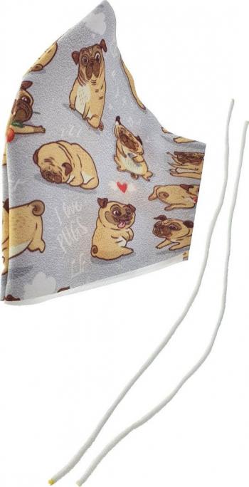 Masca fashion pentru copii Omega Dogs OCCFM-8-DC 2 straturi reglabila 175 x 115 mm reutilizabila Masti chirurgicale si reutilizabile