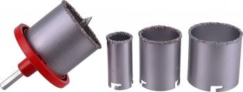 Set carote 33-73mm + maner 4 piese GEKO G40000 Accesorii masini de gaurit