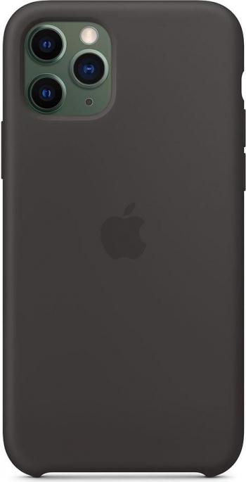 Husa de protectie Apple pentru iPhone 11 Pro Silicon BlackNeagra Huse Telefoane