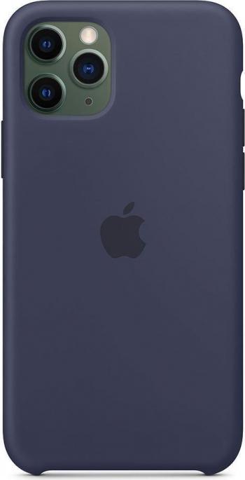 Husa de protectie Apple pentru iPhone 11 Pro Silicon Midnight Blue Huse Telefoane