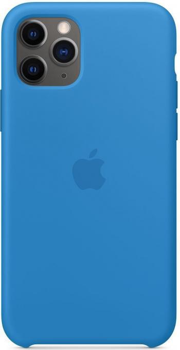 Husa de protectie Apple Silicone pentru iPhone 11 Pro Max Surf Blue Huse Telefoane