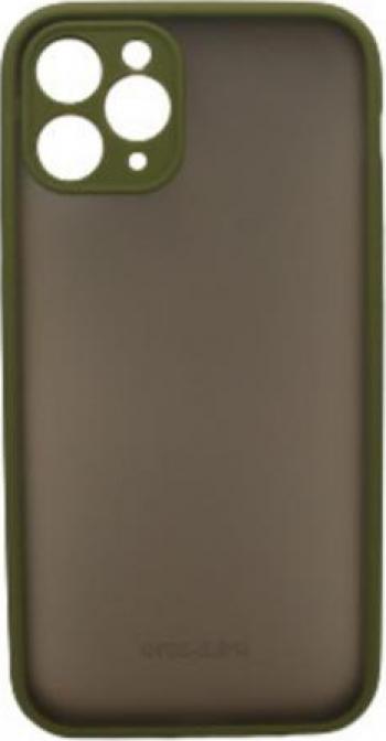 Husa de protectie pentru iPhone 11 Pro din TPU translucid dur anti-soc anti-amprenta in doua culori Verde cu Galben model 2020 Huse Telefoane