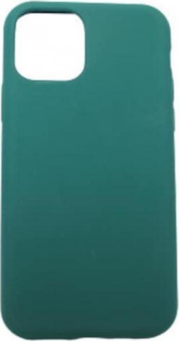 Husa protectie iPhone 11 Pro ultra slim silicon interior din microfibra protectie camera protectie ecran Verde inchis Huse Telefoane