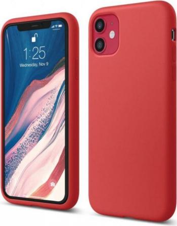 Husa protectie iPhone 11 Pro ultra slim silicon interior din microfibra Rosu aprins