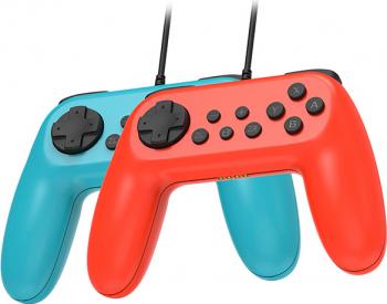 Set 2 controllere cu fir pentru Nintendo Switch
