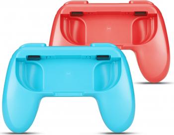 Set 2 x Grip Holder pentru Nintendo Switch Joy - Con Controller rosu/albastru