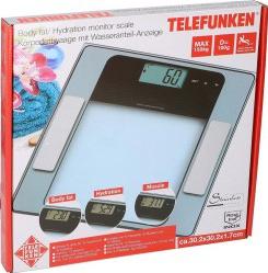 Cantar corporal de diagnostic Telefunken max. 150 kg sticla cantar de persoane Cantare Personale