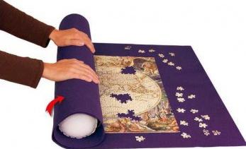 Covor pentru rulat puzzle-urile de 500 pana la 3000 de piese 164 x 100 cm Puzzle