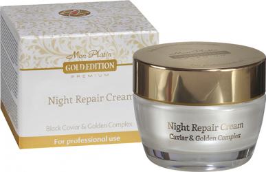 Crema de noapte pentru fata cu aur DSM-Mon Platin Gold Edition 50 ml Creme si demachiante