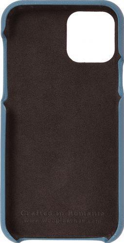 Husa de piele naturala Woop Iphone 11 Pro Color Pop albastru marin Huse Telefoane