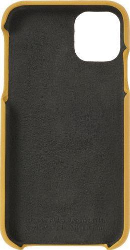 Husa de piele naturala Woop Iphone 11 Pro Color Pop galben aprins Huse Telefoane
