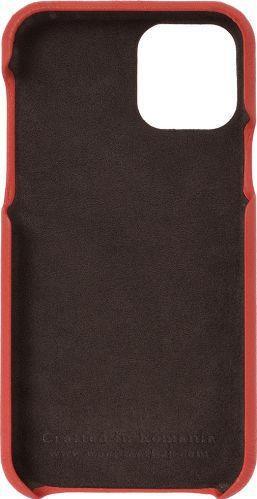 Husa de piele naturala Woop Iphone 11 Pro Color Pop rosu Huse Telefoane