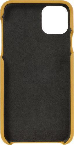 Husa de piele naturala Woop Iphone 11 Pro Max Color Pop galben aprins Huse Telefoane