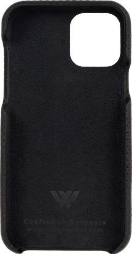 Husa de piele naturala Woop Iphone 11 Pro soft back Pierced negru Huse Telefoane