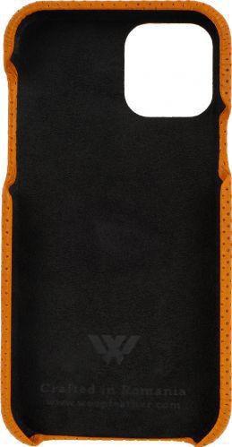 Husa de piele naturala Woop Iphone 11 Pro soft back Pierced portocaliu Huse Telefoane