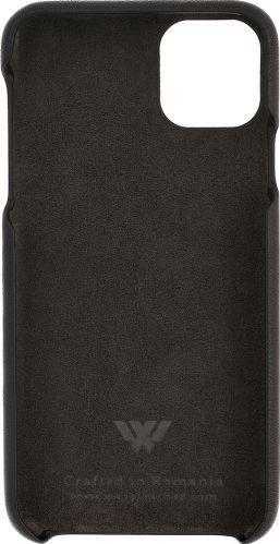 Husa Iphone 11 Pro Max piele naturala Swarovski negru Huse Telefoane