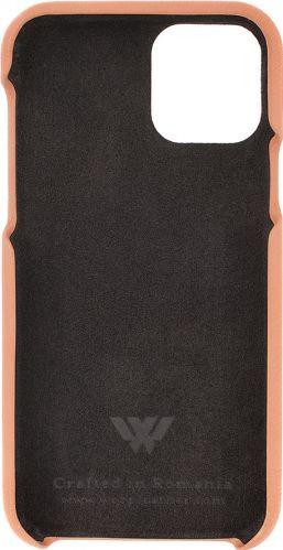Husa Iphone 11 Pro piele naturala Swarovski Peach Huse Telefoane