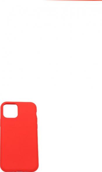 Husa protectie iPhone 11 PRO ultra slim silicon Rosu aprins interior din microfibra Huse Telefoane