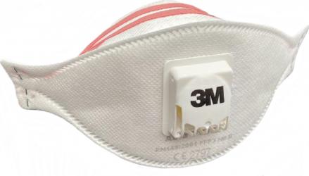 Set 10 x masti de protectie respiratorie FFP3 3M cu supapa / valva AURA 9332+ Certificate CE 2797 Masti chirurgicale si reutilizabile