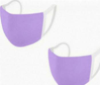 Set de 2 acoperitori faciale 2 straturi reutilizabile cu posibilitatea de a adauga filtru lila Masti chirurgicale si reutilizabile