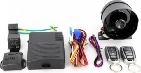 Alarma auto cu 2 telecomenzi Alarme auto si Senzori de parcare